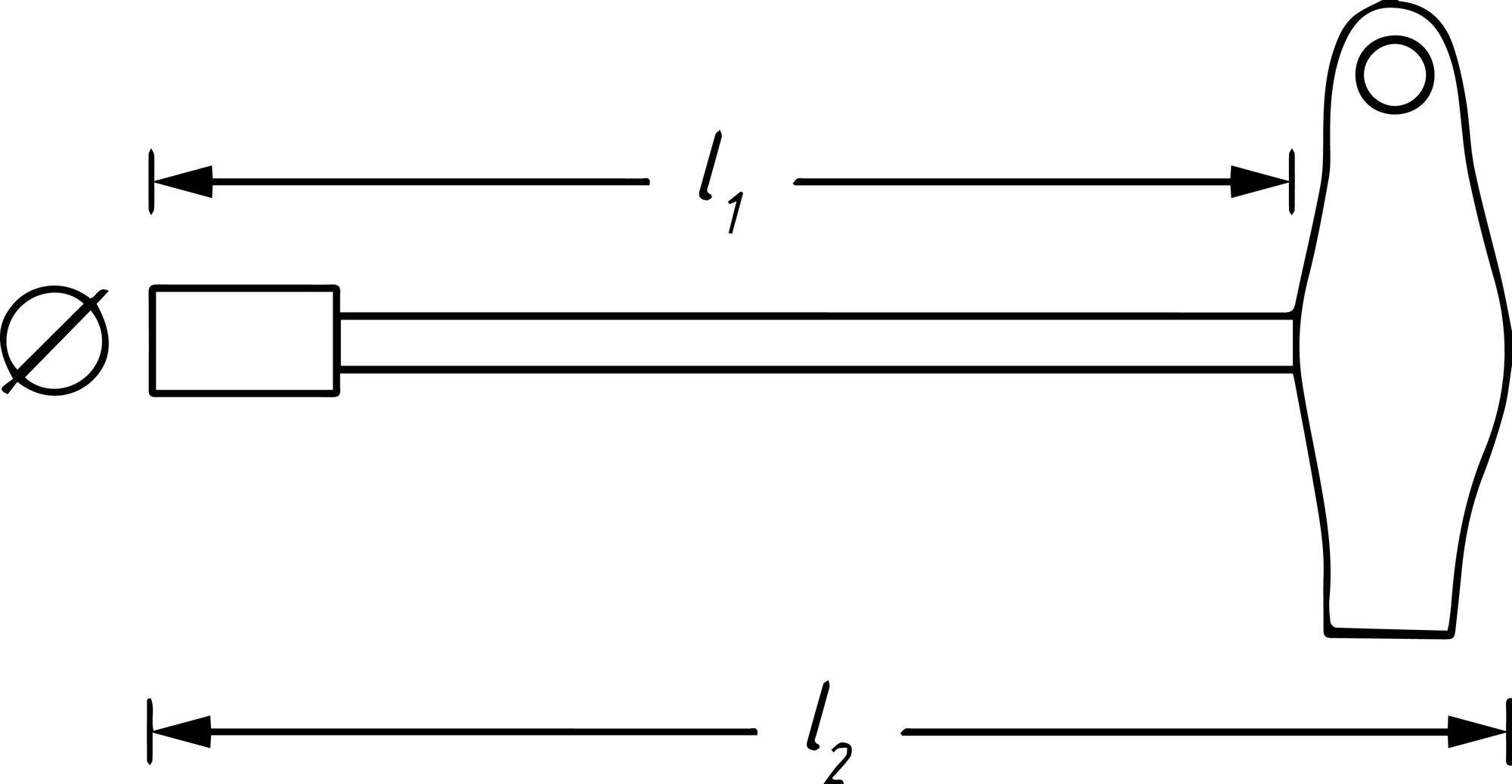HAZET Steckschlüssel ∙ mit T-Griff 428-7 ∙ Außen-Sechskant Profil ∙ 7 mm