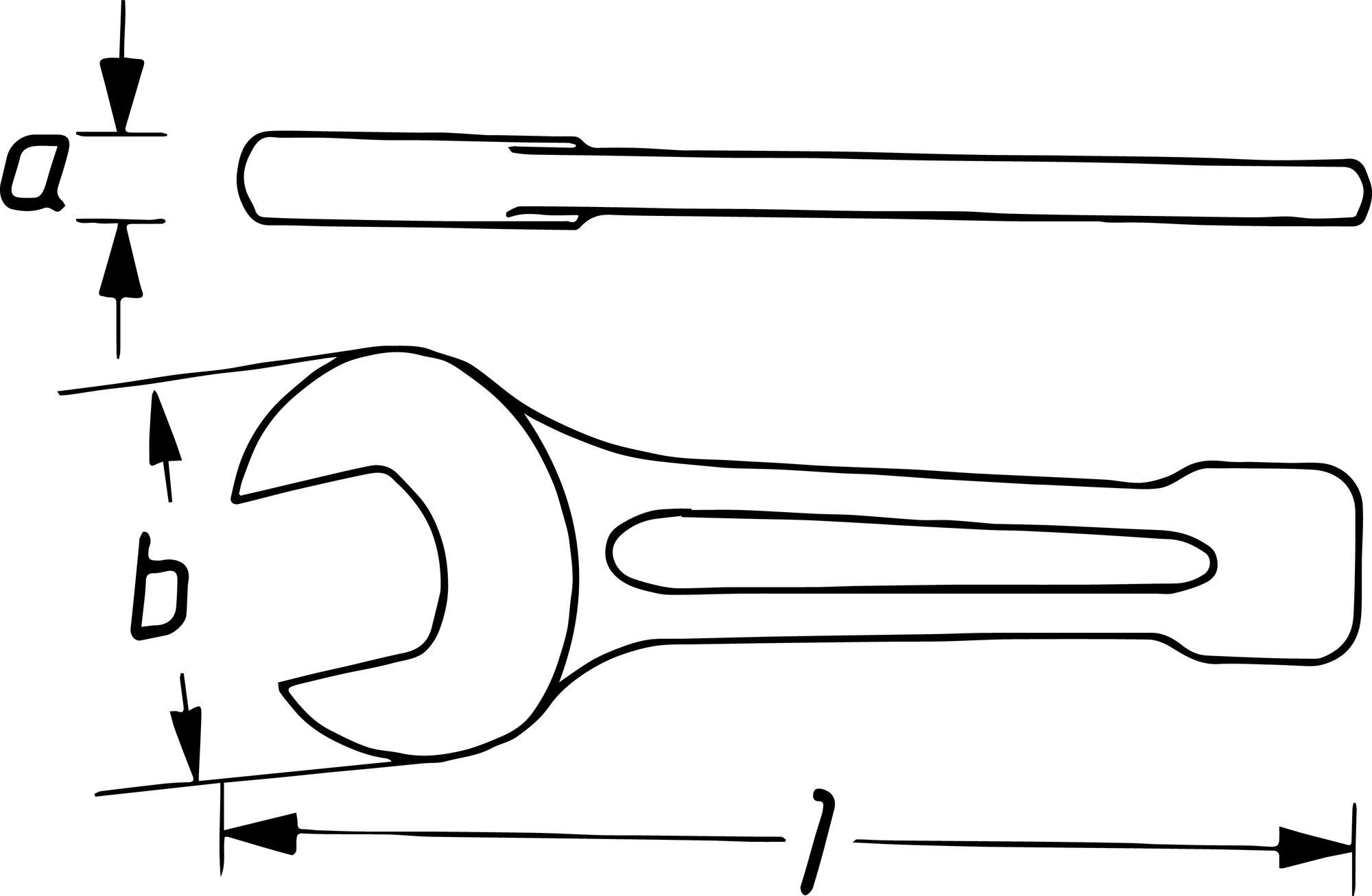 HAZET Schlag-Maulschlüssel 452-75 ∙ Außen-Sechskant Profil ∙ 75 mm