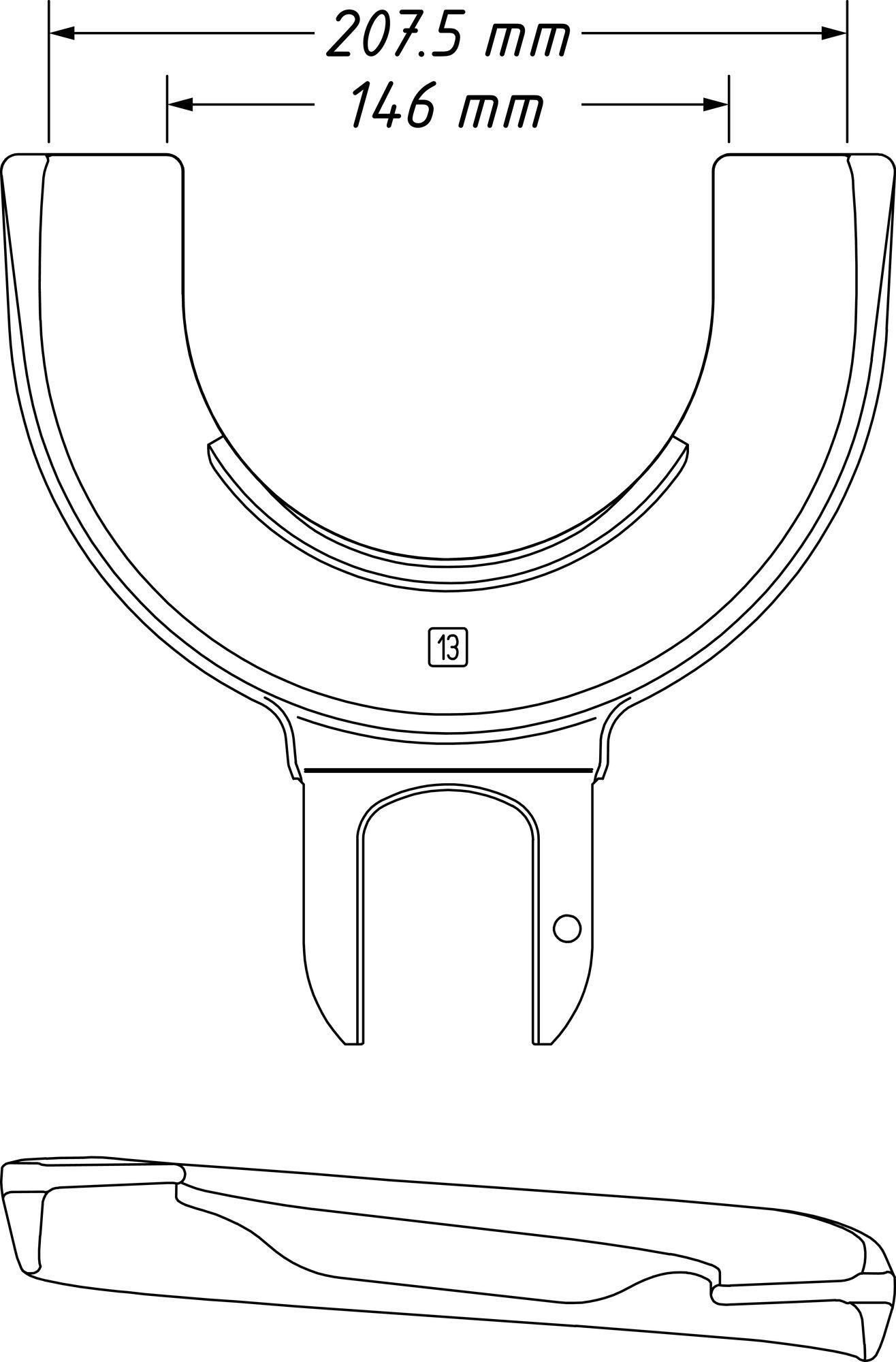 HAZET Spannplatte 4900-13 ∙ 146–207.5