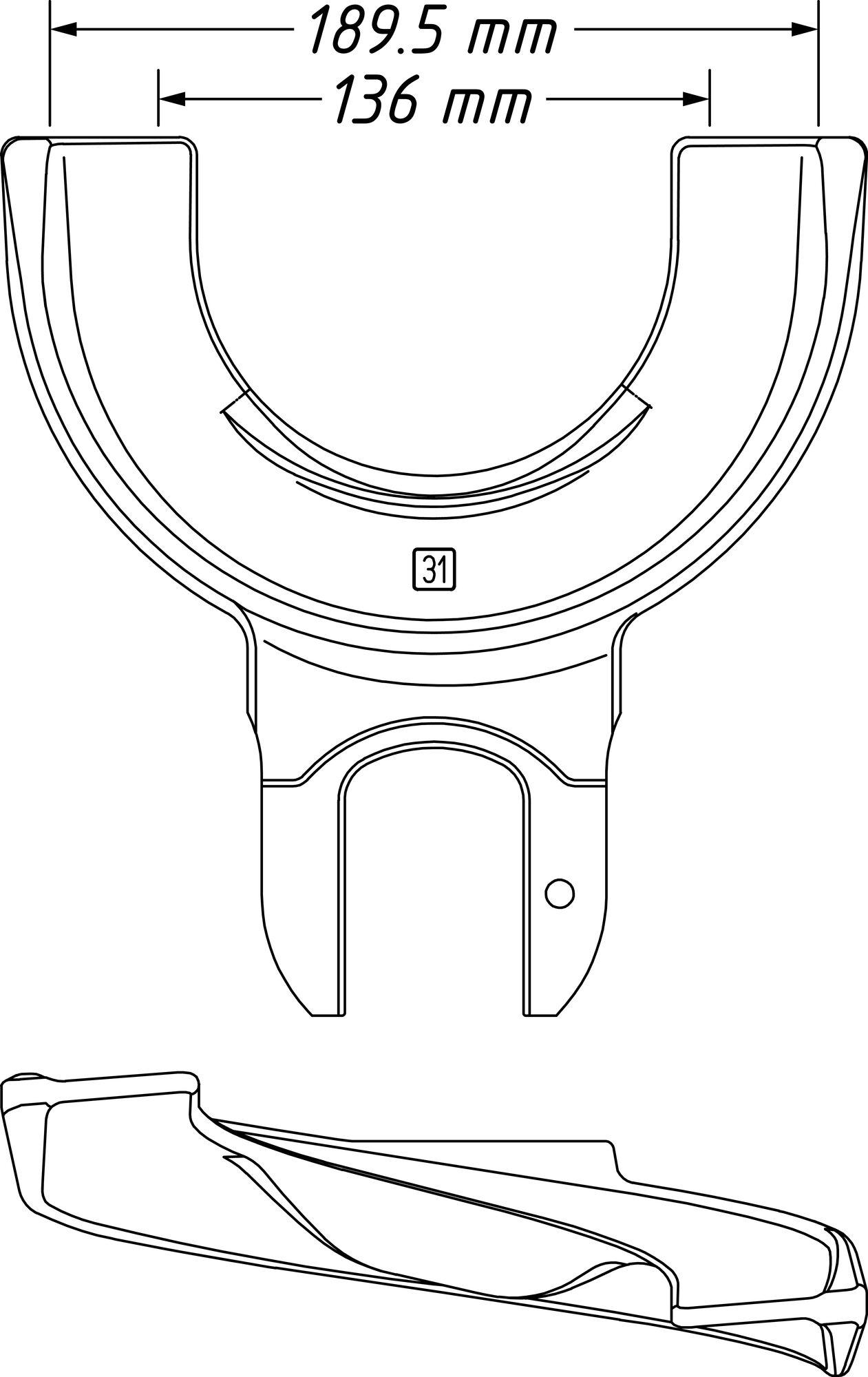 HAZET Spannplatte 4900-31 ∙ 136–189.5