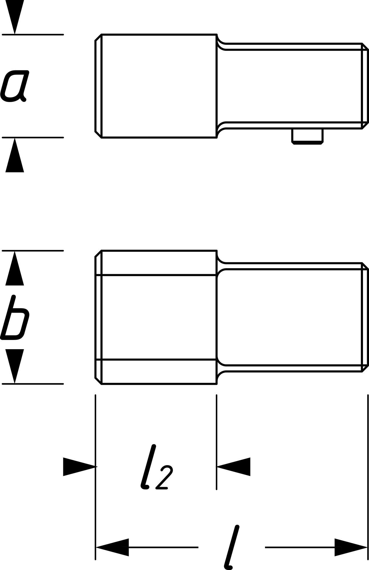 HAZET Einsteck-Adapter 6423C ∙ Einsteck-Vierkant 9 x 12 mm ∙ Einsteck-Vierkant 14 x 18 mm