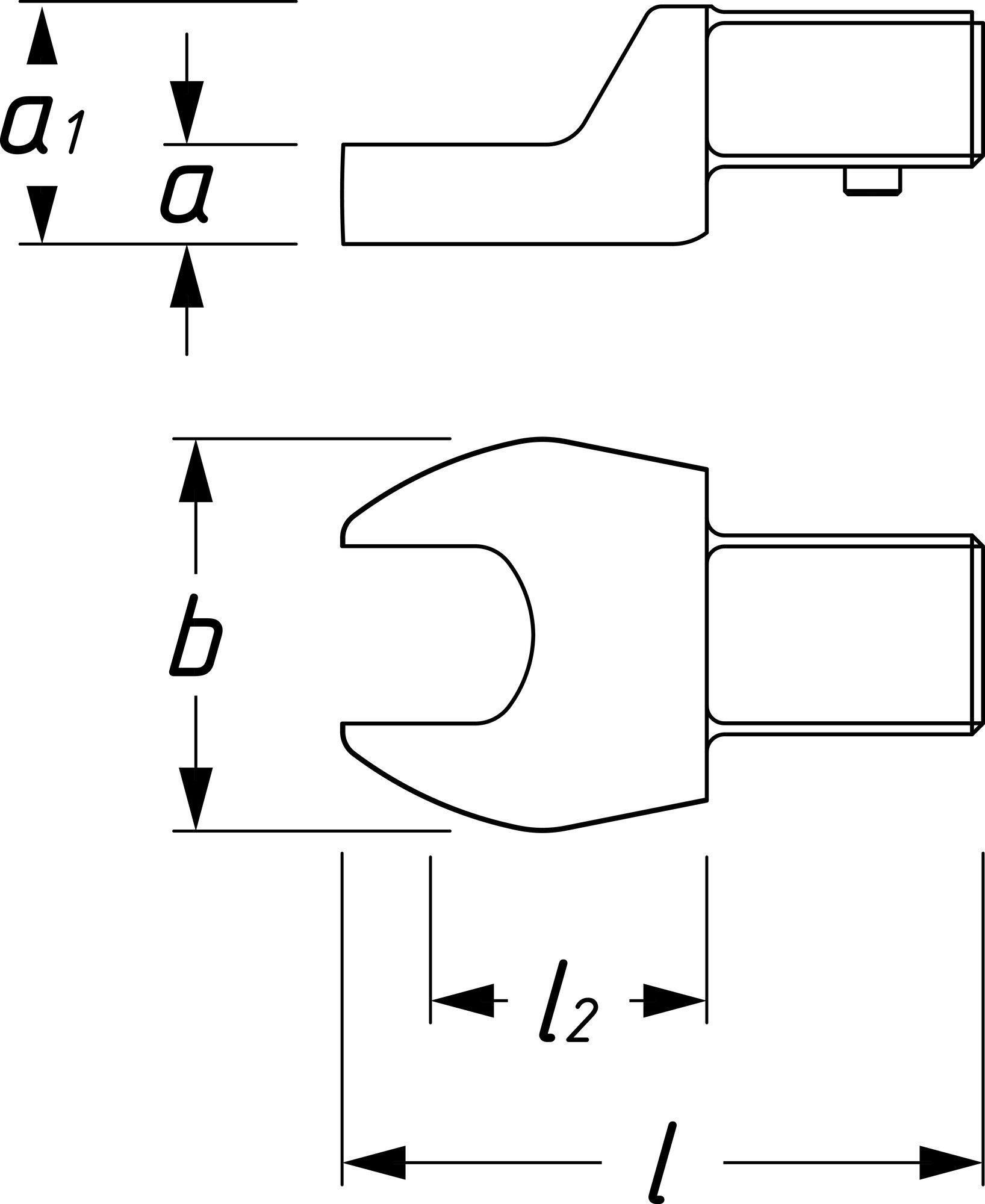 HAZET Einsteck-Maulschlüssel 6450C-15 ∙ Einsteck-Vierkant 9 x 12 mm ∙ Außen-Sechskant Profil ∙ 15 mm