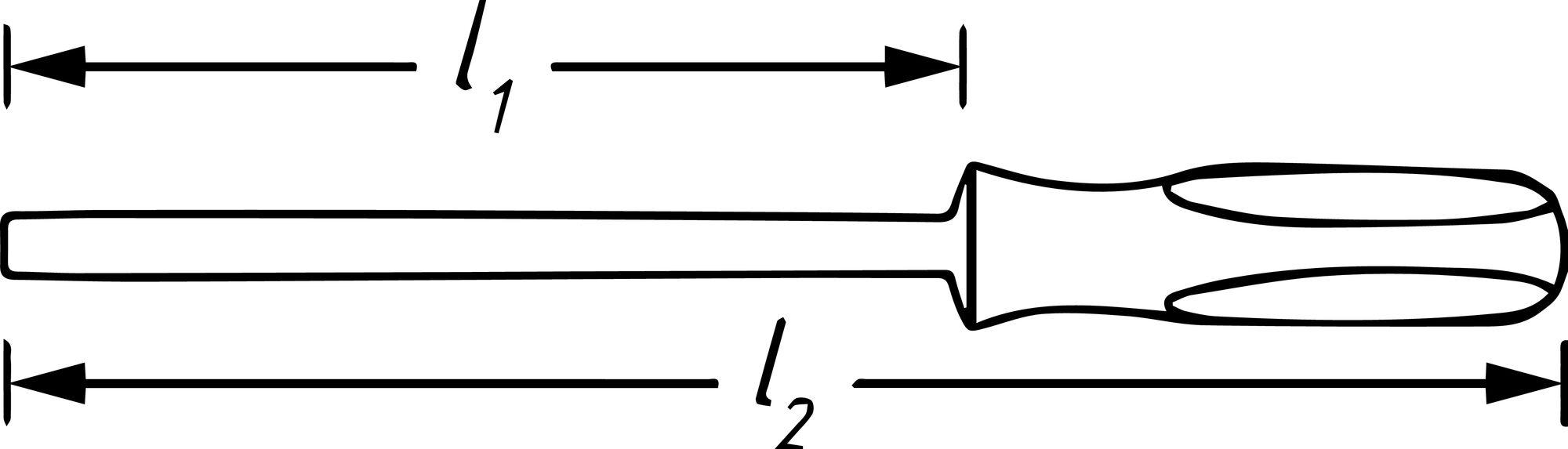HAZET Schraubendreher trinamic 803LG-T30 ∙ Innen TORX® Profil ∙ T30