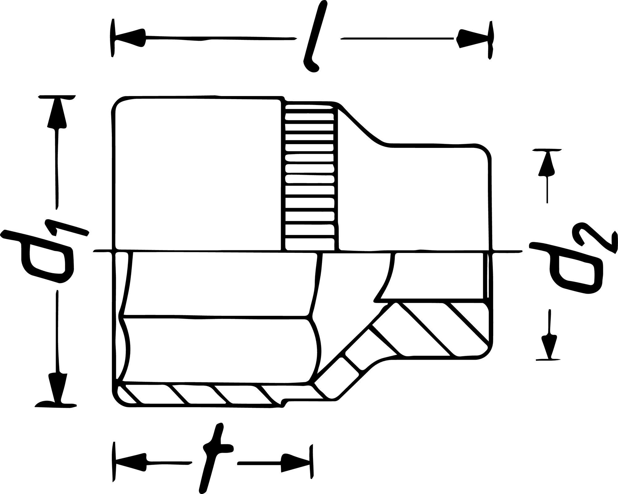HAZET Steckschlüsseleinsatz ∙ Doppelsechskant 1100Z-75 ∙ Vierkant hohl 25 mm (1 Zoll) ∙ Außen-Doppel-Sechskant Profil