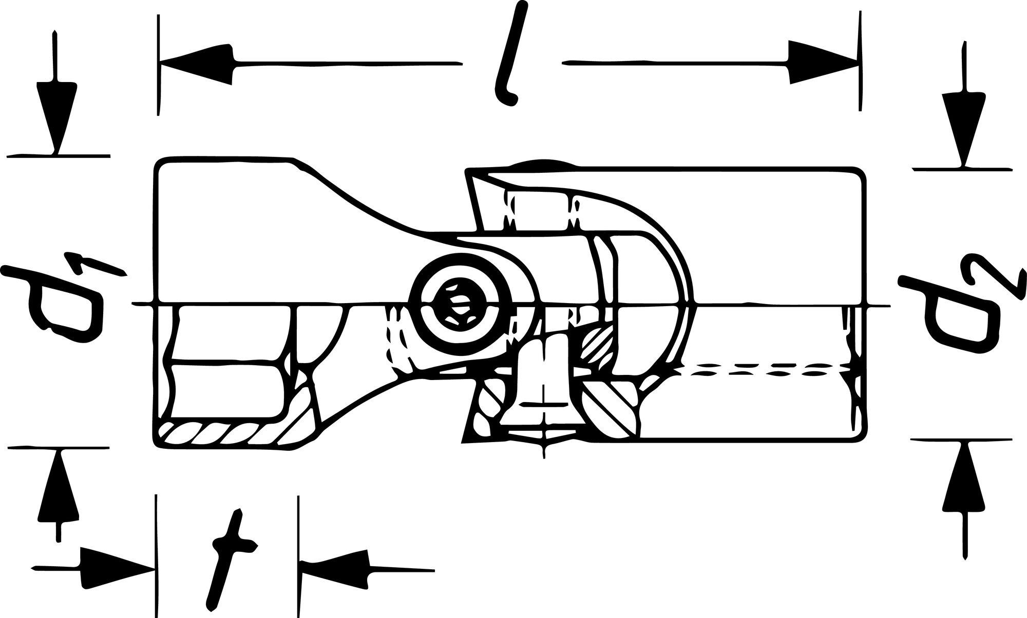 HAZET Gelenk Steckschlüsseleinsatz ∙ Doppelsechskant 880G-Z16 ∙ Vierkant hohl 10 mm (3/8 Zoll) ∙ 16 mm