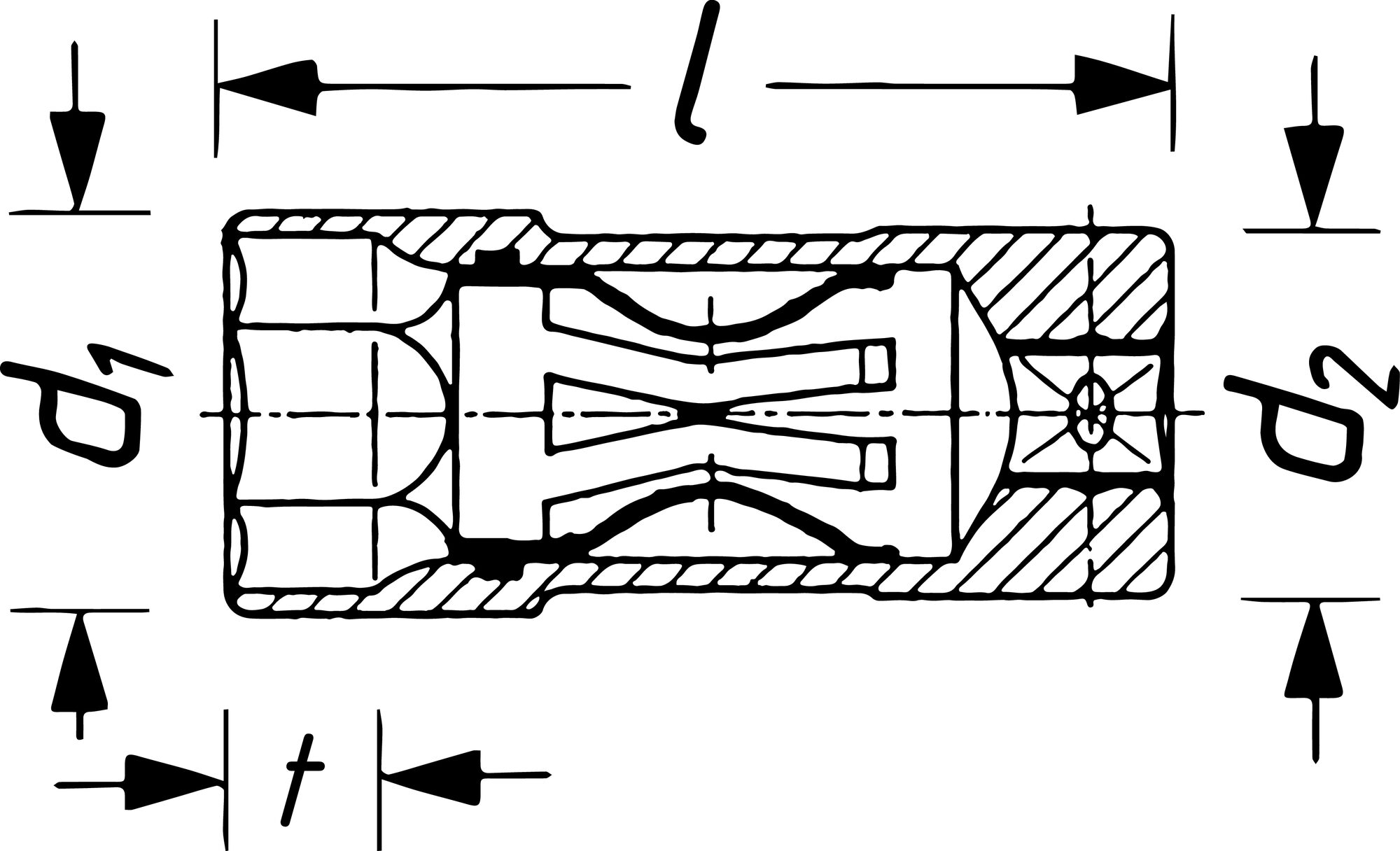 HAZET Zündkerzen Steckschlüsseleinsatz 900AKF ∙ Vierkant hohl 12,5 mm (1/2 Zoll) ∙ Außen-Sechskant Profil ∙ 16 mm