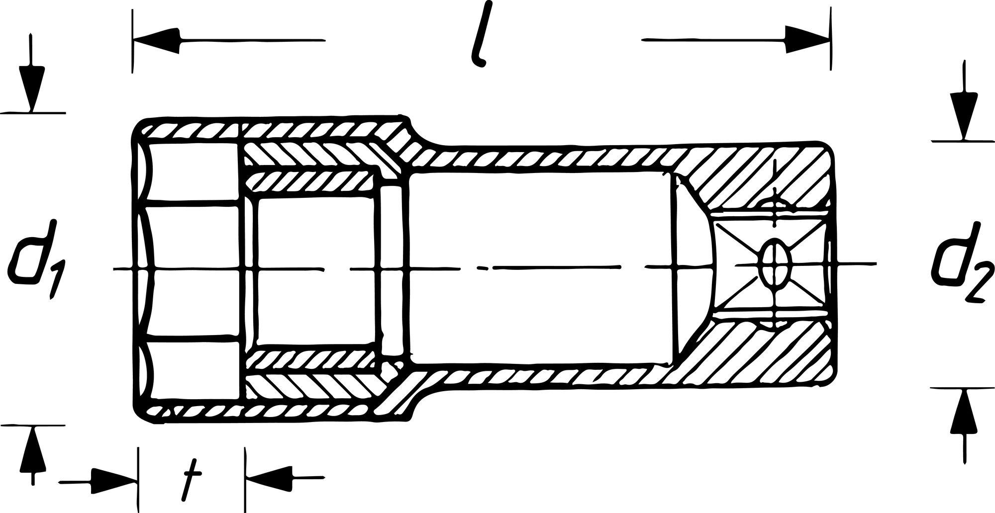 HAZET Zündkerzen Steckschlüsseleinsatz 880AMGT ∙ Vierkant hohl 10 mm (3/8 Zoll) ∙ Außen-Sechskant Profil ∙ 16 mm