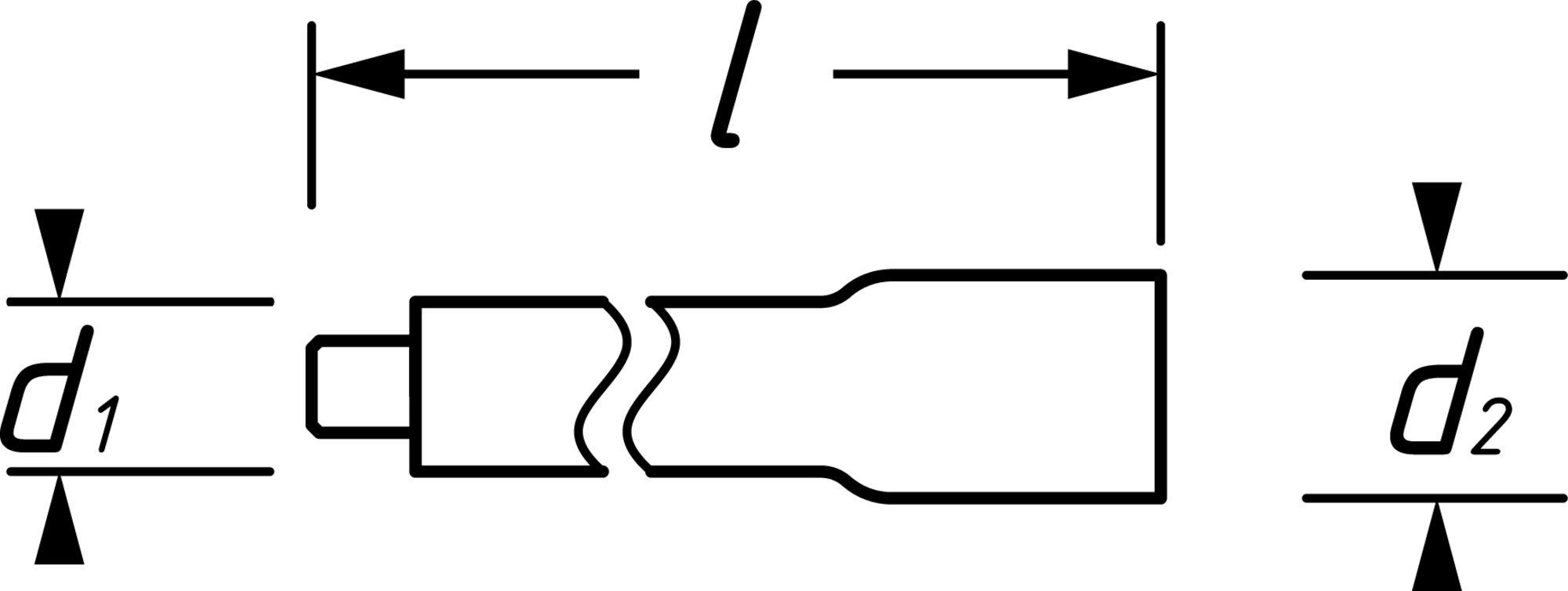 HAZET Verlängerung ∙ 1000 Volt 8821KV-3 ∙ Vierkant hohl 10 mm (3/8 Zoll) ∙ Vierkant massiv 10 mm (3/8 Zoll)