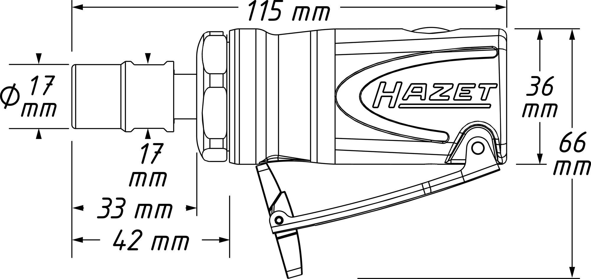 HAZET Mini Stabschleifer ∙ gerade 9032M-1