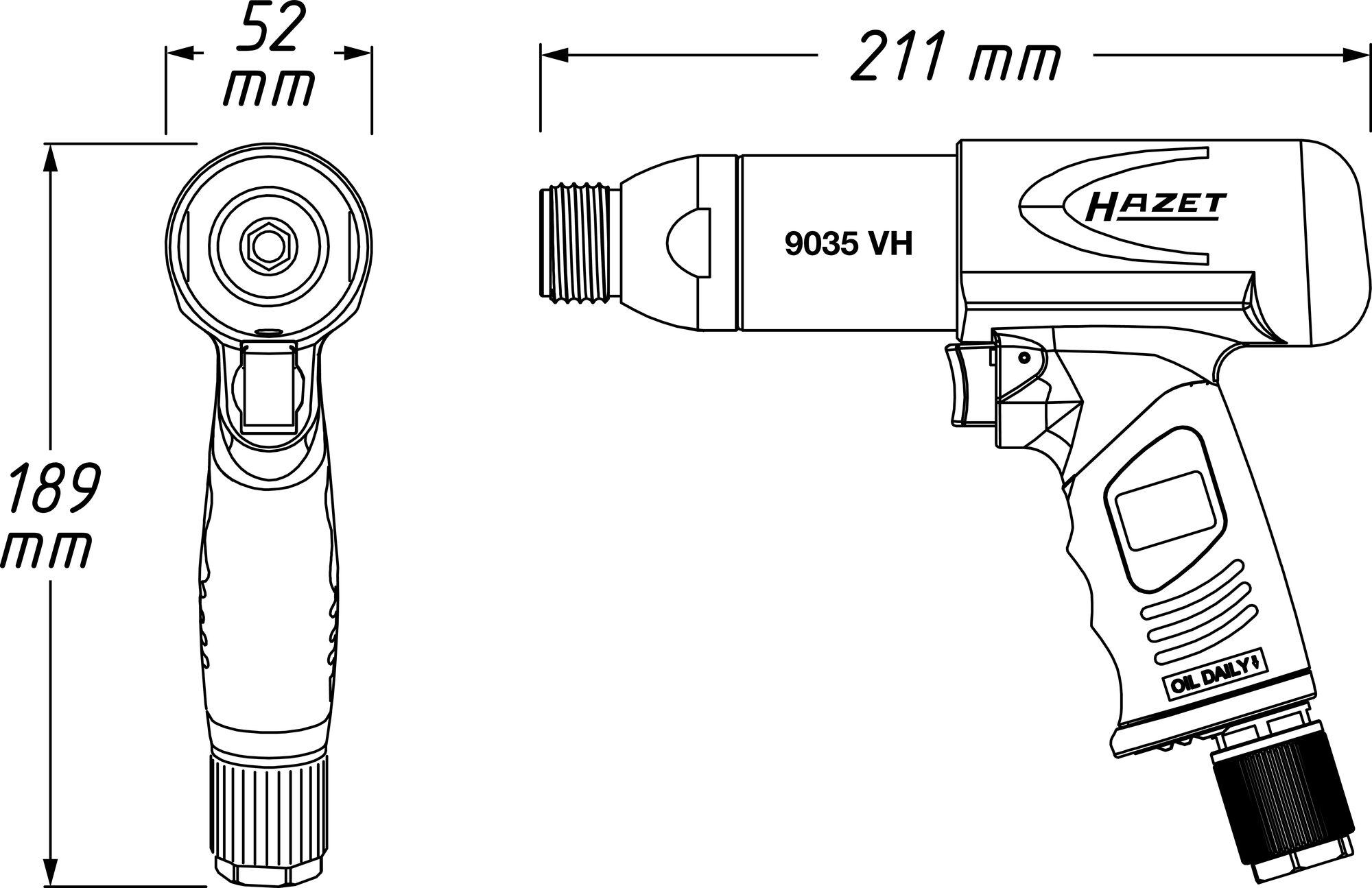 HAZET MeißelHammer Satz 9035H/6 ∙ Anzahl Werkzeuge: 6